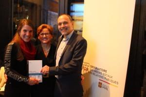 Les fondateurs de l'OMSRP, (de gauche à droite) Anne-Marie Gauthier, Francine Charest et François Grenon.