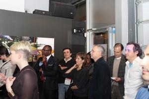Les co-directeurs Charles Moumouni et Alain Lavigne sont bien discrets parmi la foule.